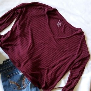 5/$25 ❤️ AEO soft & sexy rib sweater